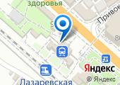 Лазаревская на карте