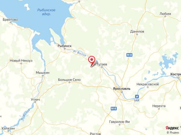деревня Ефимово на карте