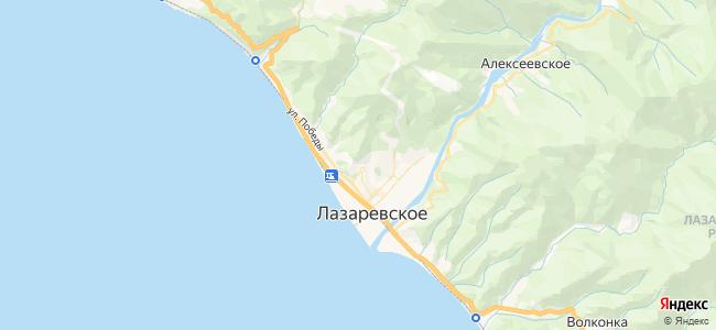 Лазаревское - объекты на карте