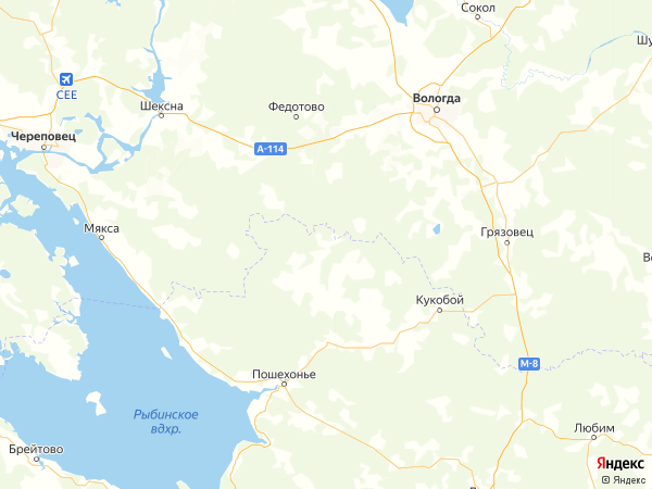 деревня Долматово на карте
