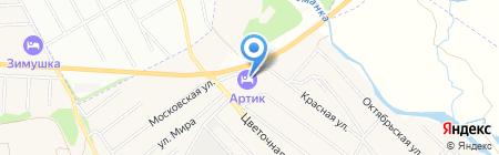 Артик на карте Бабяково