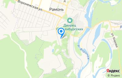 Местоположение на карте пункта техосмотра по адресу Воронежская обл, рп Рамонь, ул Рабочая, д 11