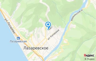 Местоположение на карте пункта техосмотра по адресу Краснодарский край, г Сочи, пер Павлова, д 6А