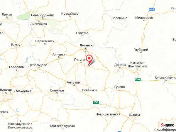 село Верхняя Ореховка на карте