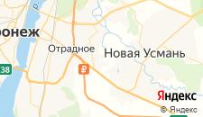 Отели города Отрадное (Воронежская область) на карте