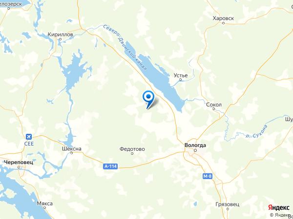 деревня Блохино на карте