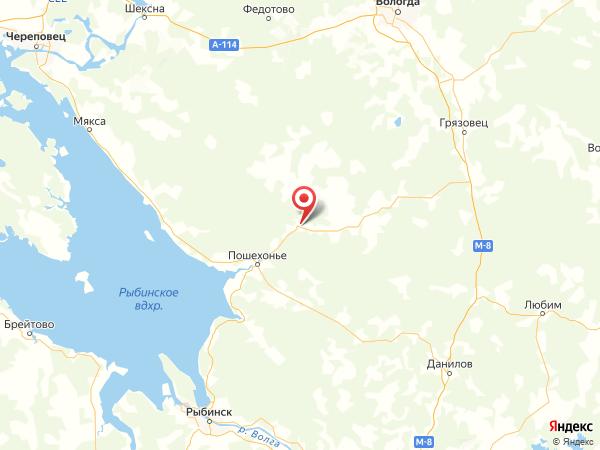 деревня Красная Гора на карте
