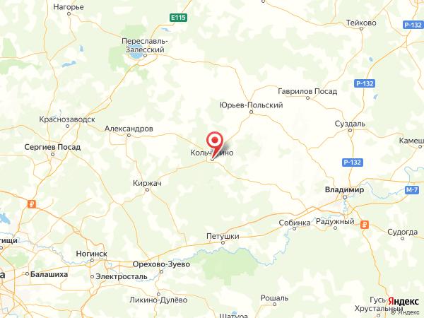 Кольчугино на карте