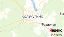 Гостиницы города Кольчугино на карте