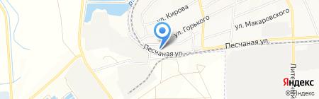 Азов на карте Азова