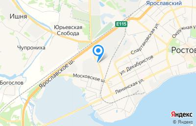 Местоположение на карте пункта техосмотра по адресу Ярославская обл, г Ростов, ш Борисоглебское