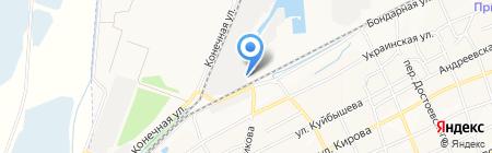 Южный морской порт на карте Азова