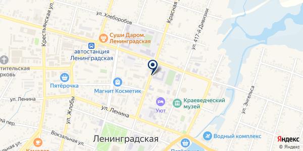 ТФ СЕРВИС-ЮГ-ККМ на карте Ленинградской