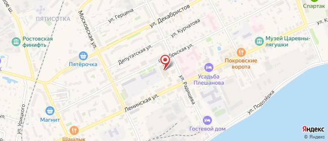 Карта расположения пункта доставки Ростов Октябрьская в городе Ростов