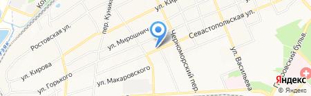 Красотка на карте Азова