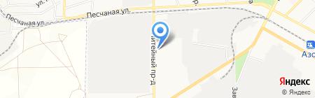 Азовский электромеханический завод на карте Азова