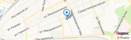 Средняя общеобразовательная школа №3 на карте Азова