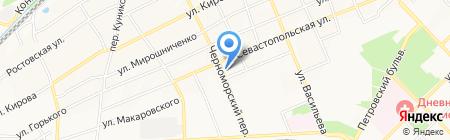 Пенный Бор на карте Азова