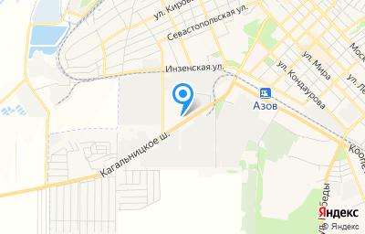 Местоположение на карте пункта техосмотра по адресу Ростовская обл, г Азов, ш Кагальницкое, д 4