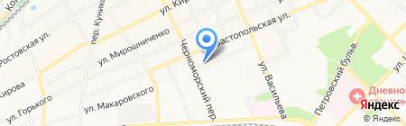 Юго-Западный банк Сбербанка России на карте Азова