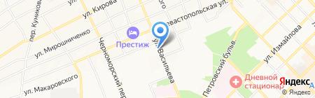 Киоск по продаже фруктов и овощей на карте Азова