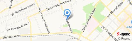 Служба заказа легкового транспорта на карте Азова