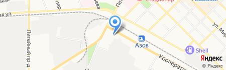 Терминал Московский Индустриальный банк на карте Азова