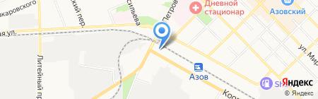 Автостоянка на карте Азова