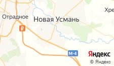 Отели города Новая Усмань на карте