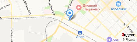 Золотая Нива на карте Азова