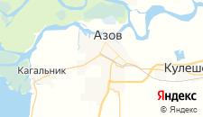 Отели города Азов на карте