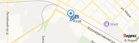 Кирпичный базар на карте Азова