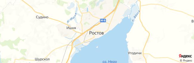 Ростов Великий на карте