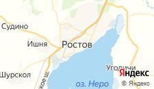Гостиницы города Ростов Великий на карте