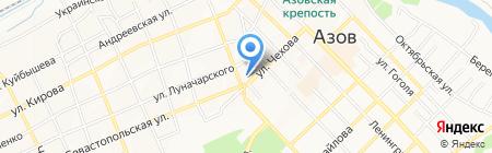 Чародейка на карте Азова