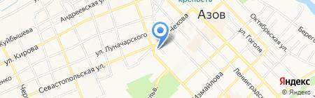 Лидия на карте Азова