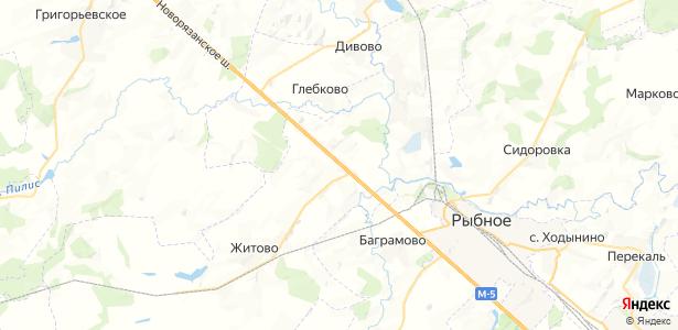 Высокое на карте