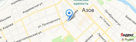 Розовый слон на карте Азова