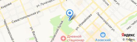 У фонтана на карте Азова