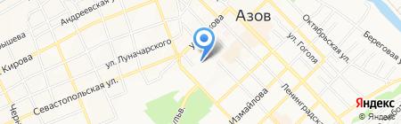 Отделение почтовой связи на карте Азова