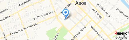 Белладжо на карте Азова