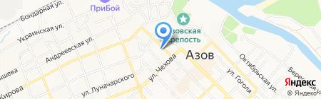 Азовская автомобильная школа на карте Азова