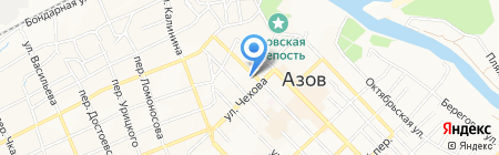 Апельсин на карте Азова