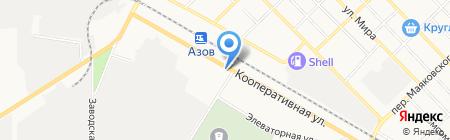 Автоэмали на карте Азова