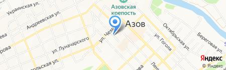 Азовский Межмуниципальный отдел МВД России на карте Азова