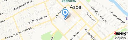 Центральная библиотека им. Н.К. Крупской на карте Азова