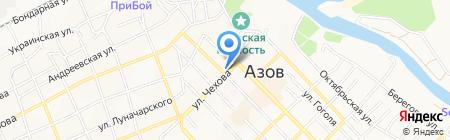 Средняя общеобразовательная школа №15 на карте Азова