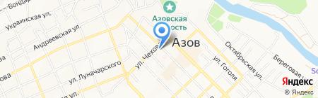 Мировые судьи г. Азова на карте Азова