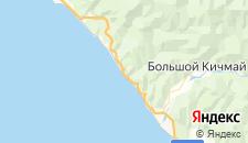 Частный сектор города Чемитоквадже на карте