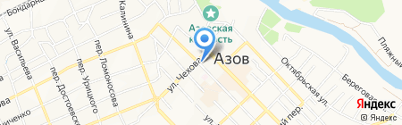 Донская устьевая гидрометеорологическая станция на карте Азова